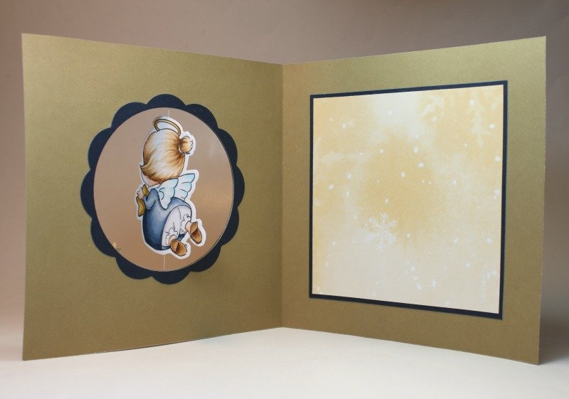 Christmas angel card using Art Impressions stamps