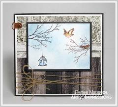 Bird Bath with Branches