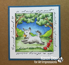 Doggy Card with Art Impressions