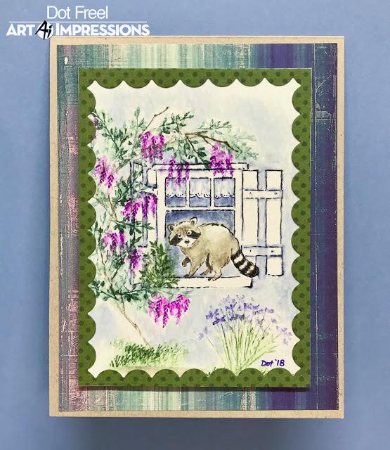Window Watercolor Scene