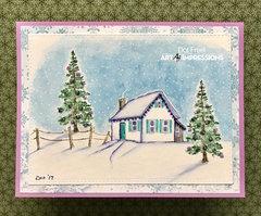 Wintery Cabin
