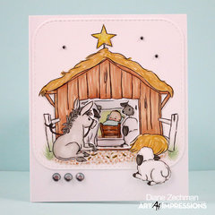 Nativity TryFold Card with Art Impressions