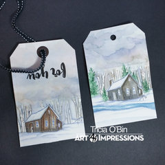 Winter Cabin Gift Tags
