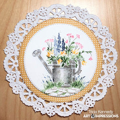 Filled with Flowers Doily
