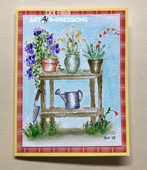 Plants and Watering Can Card