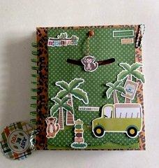 hand made scrapbooking notebook