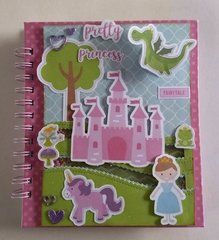 SCRAPBOOKING NOTEBOOK-ECHOPARK-PERFECT PRINCESS-LORIWITHLOCK-HANDMADE