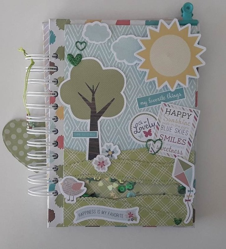 SCRAPBOOKING SPRING NOTEBOOK-HAND MADE