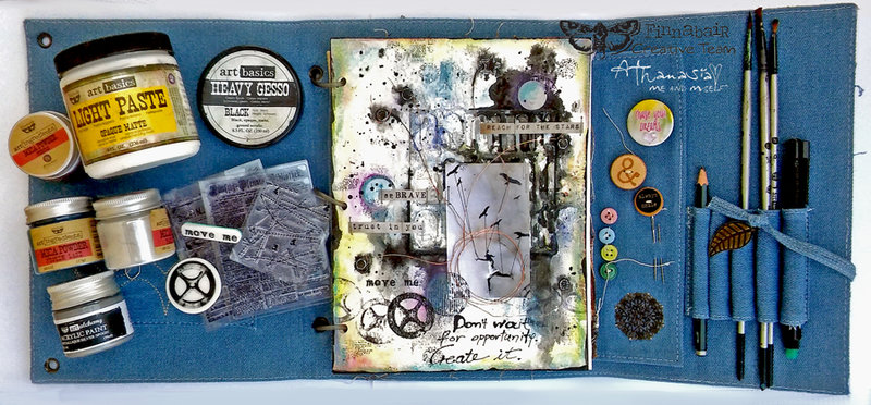 Create opportunities - Art Journal page with Video tutorial
