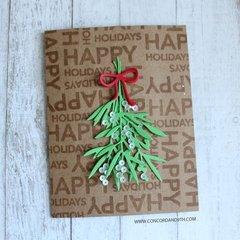 Happy Holidays with Mistletoe