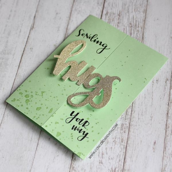 Glittery Hug Card