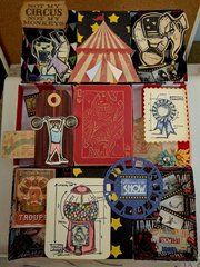 Circus Matchbox Collage