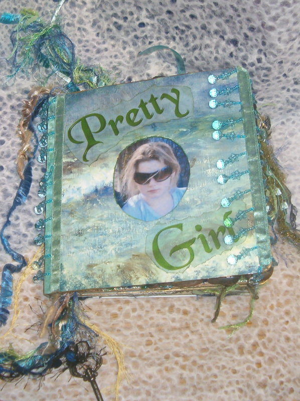 Pretty Girl Altered Book -Front Cover