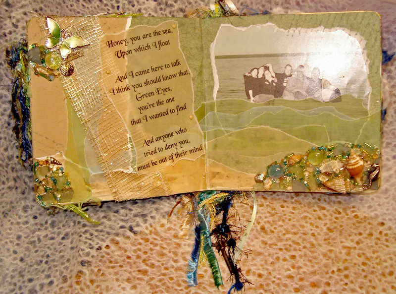 You Are the Sea (Pretty Girl Altered Book)