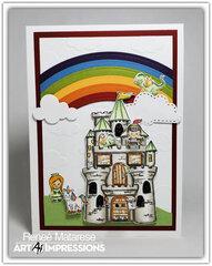 Castle Cubby with Rainbow