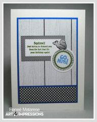 Woodland Tree Cubbie Birthday Card (inside of card)