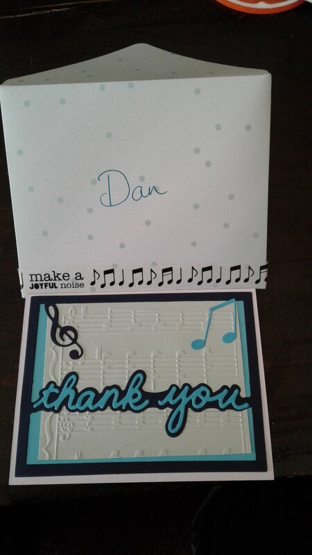Thank you card for Director
