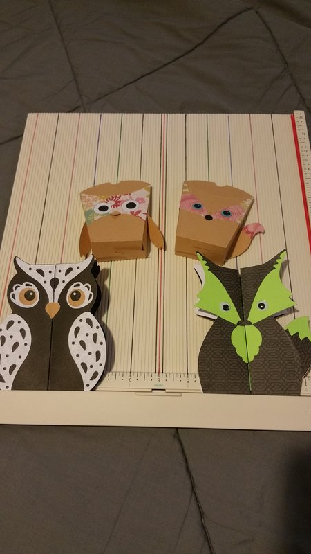 Sizzix Fox & Owl cards
