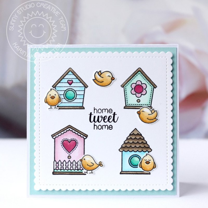 Sunny Studio Stamps A Bird's Life Card by Karin Åkesdotter
