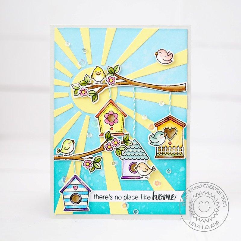 Sunny Studio Stamps A Bird's Life Card by Lexa Levana