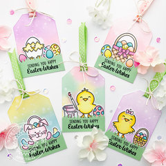 Sunny Studio Stamps A Good Egg Easter Tags by Amy Yang
