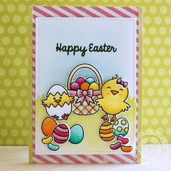 Sunny Studio Stamps A Good Egg Easter Card by Eloise Blue