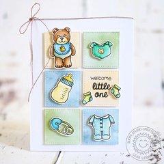 Sunny Studio Stamps Baby Bear Card by Lexa Levana