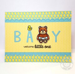 Sunny Studio Stamps Baby Bear Card by Lindsey Sams