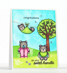 Sunny Studio Stamps Baby Bear Card by Stephanie Klauck