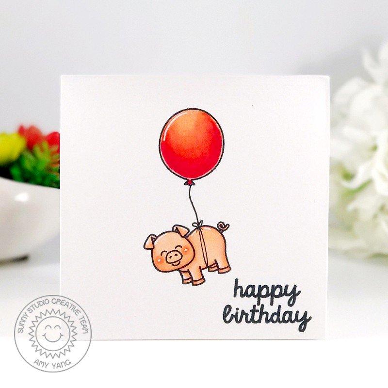 Sunny Studio Stamps Barnyard Buddies Card by Amy Yang