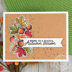 Sunny Studio Stamps Fall Leaves Card by Juliana Michaels