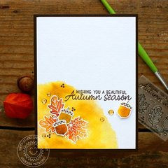 Sunny Studio Stamps Watercolor Fall Leaves Card by Vanessa Menhorn