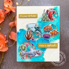 Sunny Studio Stamps Best Fishes Card by Angelica Conrad