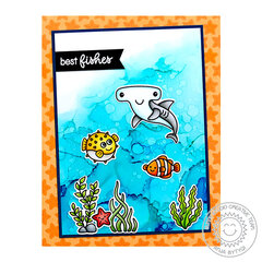 Sunny Studio Stamps Best Fishes Card by Anja