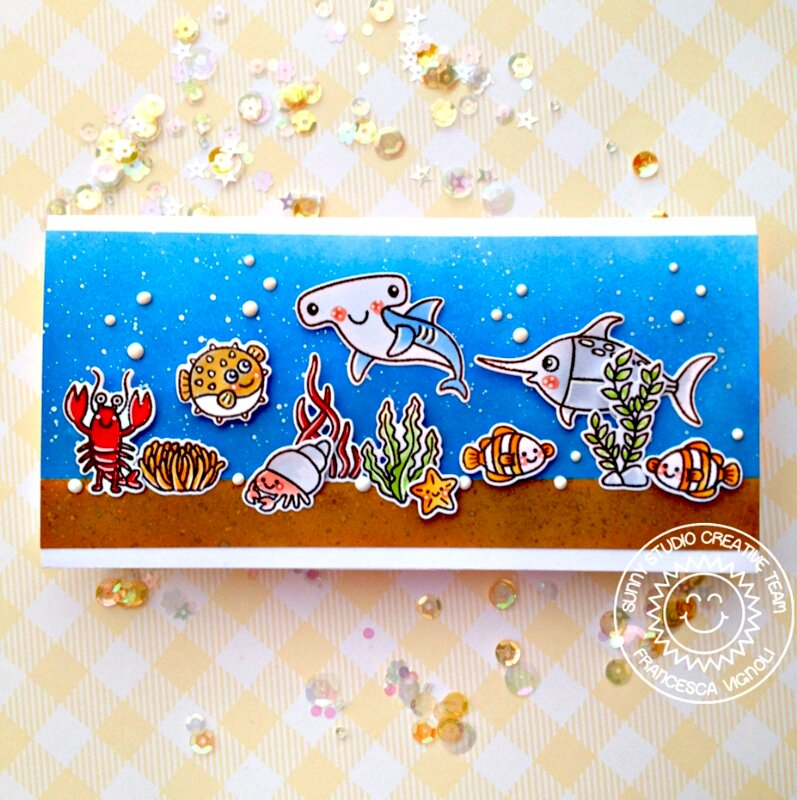 Sunny Studio Stamps Best Fishes Card by Franci