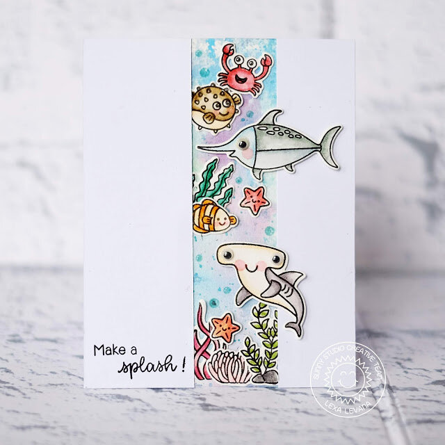 Sunny Studio Stamps Best Fishes Card by Lexa Levan