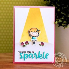 Sunny Studio Stamps Tiny Dancer Card by Eloise Blue