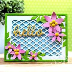 Sunny Studio Stamps Botanical Backdrop Card by Eloise Blue