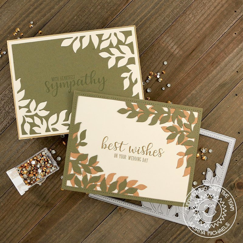 Sunny Studio Stamps Botanical Backdrop Card by Juliana Michaels