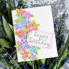 Sunny Studio Stamps Botanical Backdrop Card by Leanne West