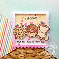 Sunny Studio Breakfast Puns Shaker Card by Franci Vignoli