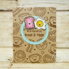 Sunny Studio Breakfast Puns Bacon & Eggs Card by Lexa Levana