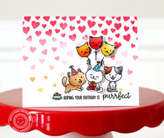 Sunny Studio Stamps Purrfect Birthday Cat Card by Nancy Damiano