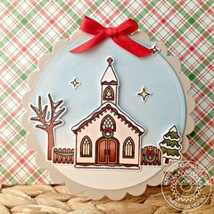 Sunny Studio Christmas Chapel Card by Francesca Vignoli