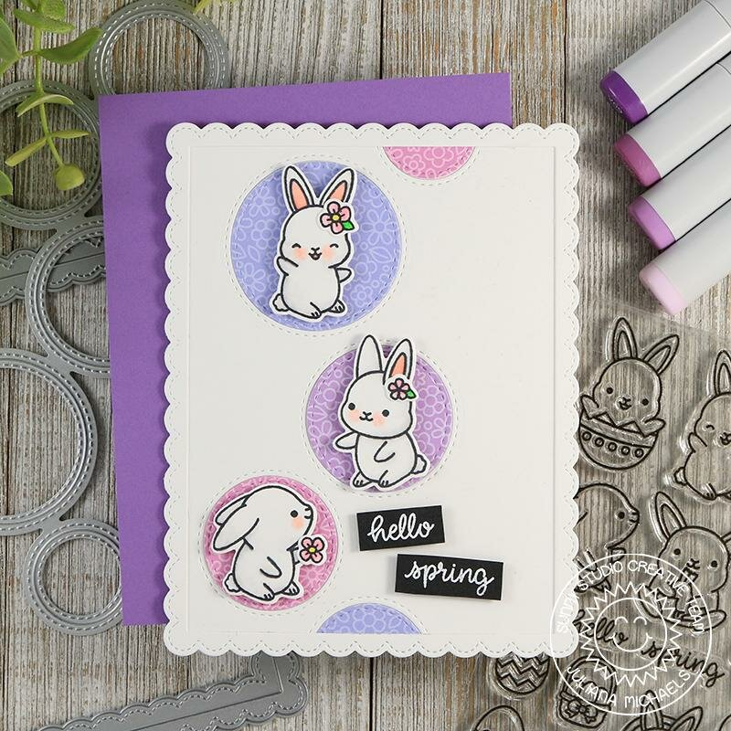 Sunny Studio Stamps Chubby Bunny Card by Juliana Michaels