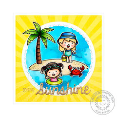 Sunny Studio Stamps Coastal Cuties Card by Anja