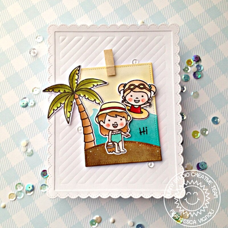 Sunny Studio Stamps Coastal Cuties Card by Franci