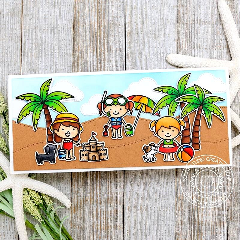 Sunny Studio Stamps Coastal Cuties Card by Juliana Michaels