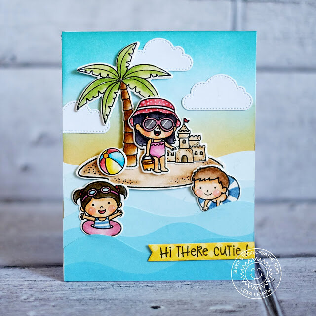 Sunny Studio Stamps Coastal Cuties Card by Lexa Levana