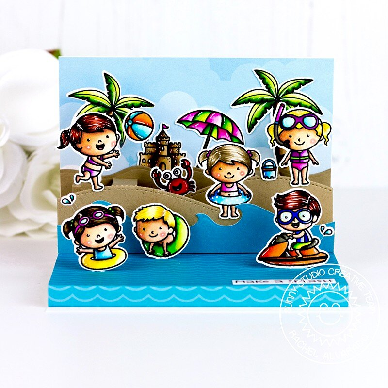 Sunny Studio Stamps Coastal Cuties Card by Rachel